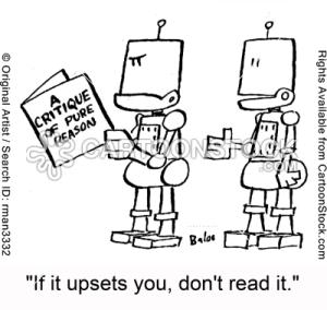 ביקורת ספרות (via Cartoonstock)