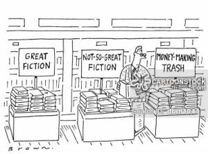 עוד פנטסיה לגבי חזות חנויות הספרים (מקור: cartoonstock)