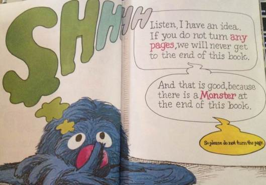 מתוך The Monster at the End of This Book: Starring Lovable, Furry Old Grover