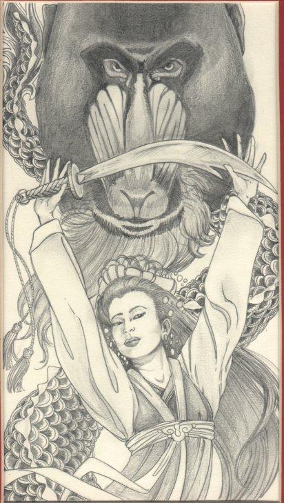 איור מעריצים בהשראת הרומן (מקור: Kaja Foglio, bookpics.com)