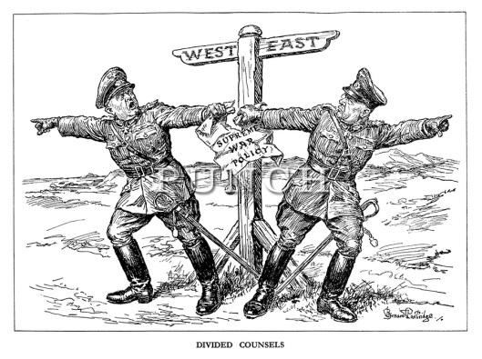 קריקטורה בריטית מתקופת מלחמת העולם השנייה (מקור: Punch Magazine)