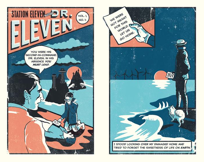 כריכת הרומן הגרפי על שמו קרוי Station Eleven (איור: Nathan Burton)