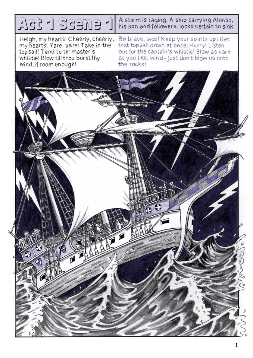 מקור: Shakespeare Comic Books